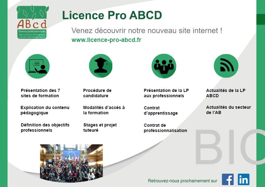 Nouveau Site internet pour la Licence Pro ABCD